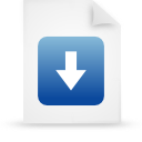 file document paper blue g39210 Png Icon