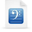 file document paper blue g8620 Png Icon