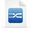 file document paper blue g8687 Png Icon