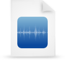 file document paper blue g8769 Png Icon