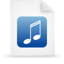 file document paper blue g9624 Png Icon