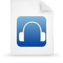 file document paper blue g9641 Png Icon