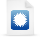 file document paper blue g9692 Png Icon