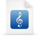 file document paper blue g9712 Png Icon