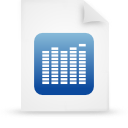 file document paper blue g9845 Png Icon