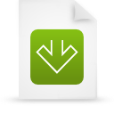 file document paper green g11554 Png Icon