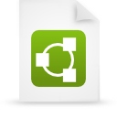 file document paper green g11834 Png Icon