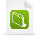 file document paper green g11856 Png Icon