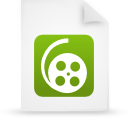 file document paper green g12008 Png Icon