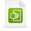 file document paper green g12107 Png Icon