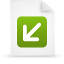 file document paper green g12874 Png Icon