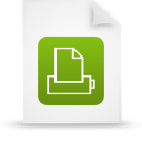 file document paper green g12875 Png Icon