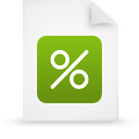 file document paper green g12908 Png Icon