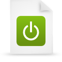 file document paper green g12932 Png Icon