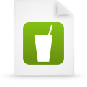 file document paper green g13353 Png Icon