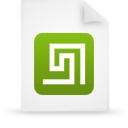file document paper green g13403 Png Icon