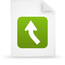 file document paper green g13436 Png Icon