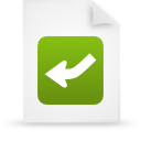 file document paper green g13448 Png Icon