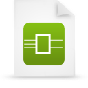 file document paper green g13468 Png Icon