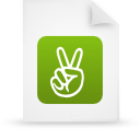 file document paper green g13564 Png Icon