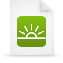 file document paper green g13933 Png Icon