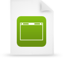 file document paper green g13989 Png Icon