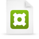 file document paper green g14039 Png Icon