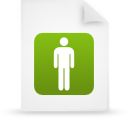 file document paper green g14136 Png Icon