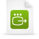 file document paper green g14246 Png Icon
