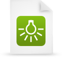 file document paper green g14273 Png Icon