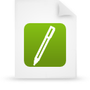 file document paper green g14314 Png Icon