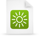 file document paper green g14326 Png Icon