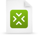 file document paper green g14327 Png Icon
