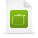 file document paper green g14339 Png Icon