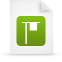 file document paper green g14351 Png Icon