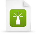 file document paper green g14362 Png Icon
