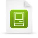 file document paper green g14389 Png Icon