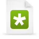 file document paper green g14572 Png Icon
