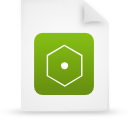file document paper green g14616 Png Icon