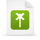 file document paper green g14822 Png Icon