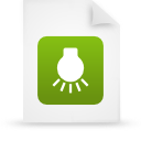 file document paper green g14895 Png Icon