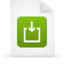 file document paper green g14973 Png Icon