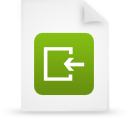 file document paper green g14987 Png Icon