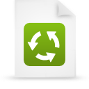 file document paper green g15138 Png Icon