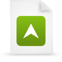 file document paper green g15279 Png Icon