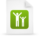 file document paper green g16091 Png Icon