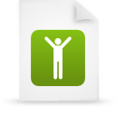 file document paper green g16109 Png Icon