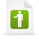 file document paper green g16139 Png Icon