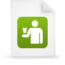 file document paper green g16249 Png Icon