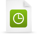 file document paper green g21496 Png Icon
